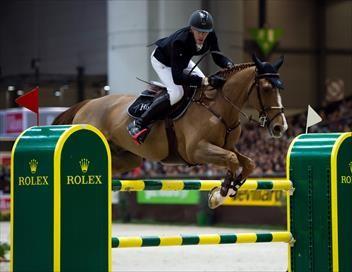Saut d'obstacles. Compétition par équipes Equitation Jeux équestres mondiaux 2018