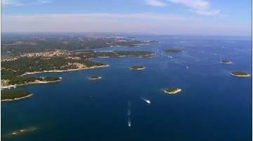Les côtes d'Europe vues du ciel : ARCHIPELS CROATES