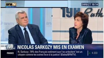 Thierry Herzogface à Ruth Elkrief