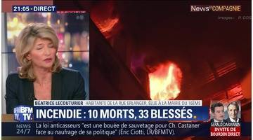 Paris: 10 morts et 33 blessés dans un incendie dans le XVIe arrondissement
