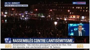 La France rassemblée contre l'antisémitisme