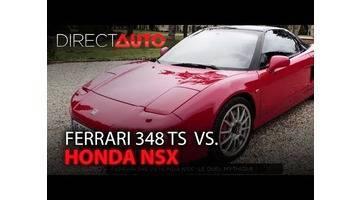 RÉTRO : FERRARI 348 TS vs HONDA NSX