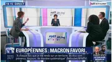Européennes: Emmanuel Macron favori