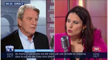 Bernard Kouchner face à Apolline de Malherbe en direct
