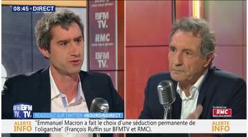 François Ruffin face à Jean-Jacques Bourdin en direct