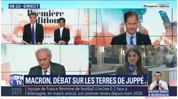 Macron, débat sur les terres de Juppé