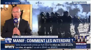 """Éric Ciotti: """"plus aucune manifestation ne doit être acceptée"""""""