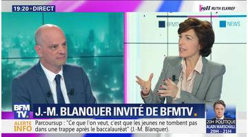 Jean-Michel Blanquer face à Ruth Elkrief