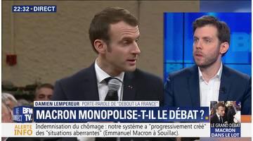 Emmanuel Macron monopolise-t-il le débat ?