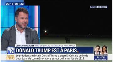 Commémoration du 11 novembre : Donald Trump arrive à Paris (1/3)