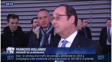 François Hollande se rend en Corrèze pour présenter ses vœux (1/2)