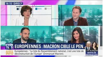 Européennes: Emmanuel Macron cible le RN