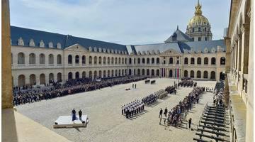 Cérémonie d'hommage national aux militaires Cédric de Pierrepont et Alain Bertoncello