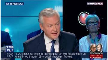 """""""Le 26 mai au soir, notre monnaie commune sera plus forte si nous gagnons ou plus faible si les nationalistes l'emportent"""", Bruno Le Maire"""