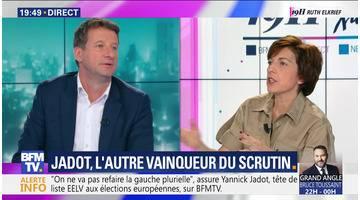 Yannick Jadot face à Ruth Elkrief