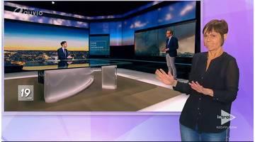 JT 19h30 avec interprétation en langue des signes