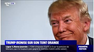 Trump ironise sur son teint orange - 16/09