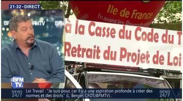"""Manifestations contre la loi Travail: """"On ira jusqu'au bout, jusqu'au retrait de la loi"""", Patrice Clos"""