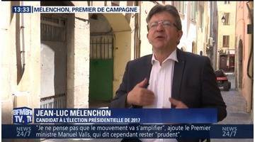 Mélenchon, premier de campagne