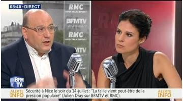 Julien Dray face à Apolline de Malherbe en direct