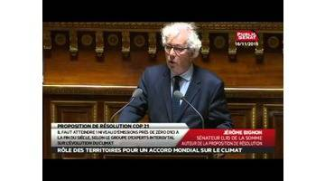 Proposition de résolution de la COP 21 - Les Matins du Sénat