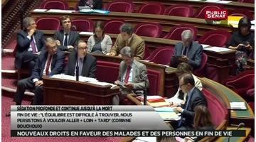 Deuxième lecture de la proposition de loi Fin de vie - Les matins du Sénat (30/10/2015)