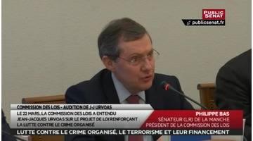 """Audition de JJ Urvoas """"Lutte contre le terrorisme"""" + Projet de... - Les matins du Sénat (29/03/2016)"""