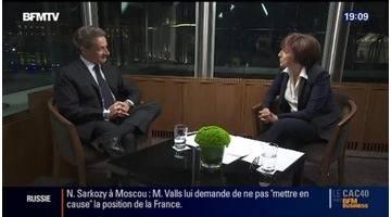 """Nicolas Sarkozy à Moscou: """"La Russie est une grande puissance mondiale"""""""