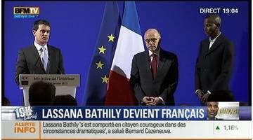 """Naturalisation de Lassana Bathily (2/5): """"vous avez appris à être Français, vous le devenez"""", Manuel Valls – 20/01"""