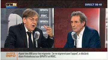 Alain Finkielkraut face à Jean-Jacques Bourdin en direct