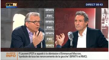 Pierre Laurent face à Jean-Jacques Bourdin en direct