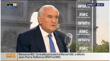 Jean-Pierre Raffarin face à Jean-Jacques Bourdin en direct