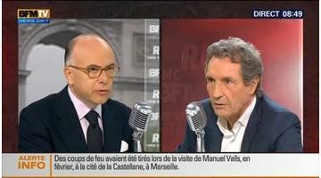 Bernard Cazeneuve face à Jean-Jacques Bourdin en direct