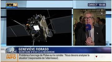 Atterrissage de Philae sur la comète Tchouri: Les commentaires de Geneviève Fioraso (1/4) - 12/11