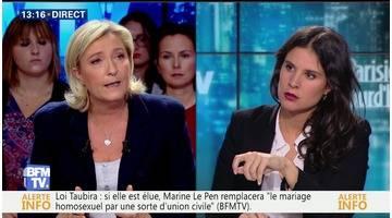 """""""Je choisis l'intérêt de la France et la sécurité des Français"""", Marine Le Pen"""