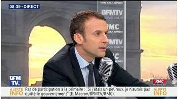 Emmanuel Macron face à Jean-Jacques Bourdin en direct
