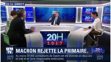 Emmanuel Macron rejette la primaire à gauche