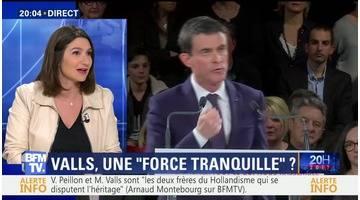 """Manuel Valls veut incarner """"une force tranquille"""""""