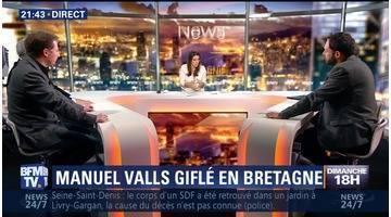 Bretagne: Manuel Valls giflé par un jeune homme