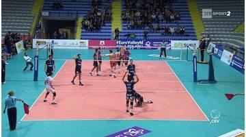 Volley Masculin - Ligue des Champions - 3ème tour retour - Sète éliminé