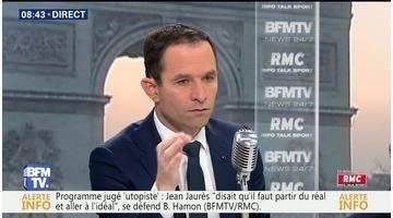 Benoît Hamon face à Jean-Jacques Bourdin en direct