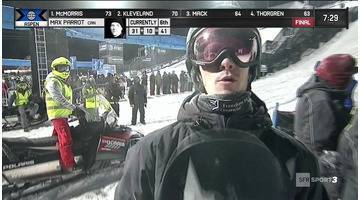 X-Games - Snowboard Big Air - Max Parrot marche sur l'eau