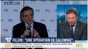 """PenelopeGate: François Fillon dénonce """"une opération de calomnie très professionnelle"""""""