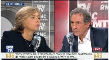 Valérie Pécresse face à Jean-Jacques Bourdin en direct