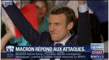 En meeting à Marseille, Macron cible Le Pen et Fillon