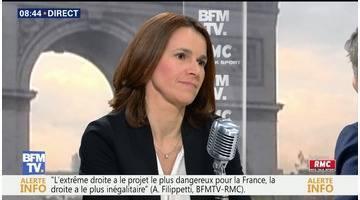 Aurélie Filippetti face à Jean-Jacques Bourdin en direct