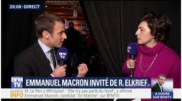 Emmanuel Macron face à Ruth Elkrief