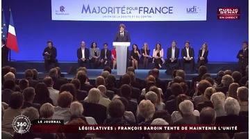 Politique 360 : Législatives / Macron & Syndicats / Bayrou (22/05/2017)