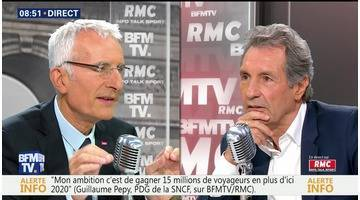 Guillaume Pépy face à Jean-Jacques Bourdin en direct