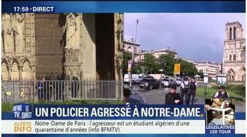 Notre-dame de Paris: un policier agressé par un homme armé d'un marteau